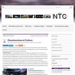 Oenotourisme et Culture