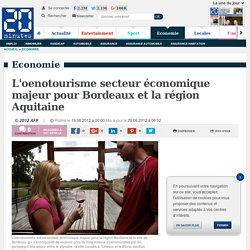 L'oenotourisme secteur économique majeur pour Bordeaux et la région Aquitaine