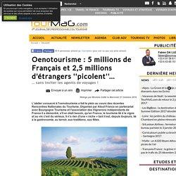 Oenotourisme : 5 millions de Français et 2,5 millions d'étrangers ''picolent''...