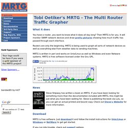 MRTG - Tobi Oetiker's MRTG - The Multi Router Traffic Grapher