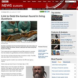 Link to Oetzi the Iceman found in living Austrians