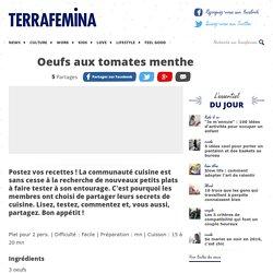 Oeufs aux tomates menthe