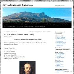 Vie et Oeuvre de Corneille (1606 – 1684)