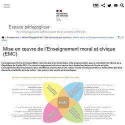 Rennes - Mettre en oeuvre l'EMC