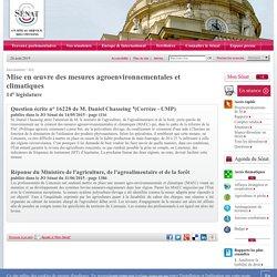 JO ASSEMBLEE NATIONALE 11/06/15 Réponse à question: 16228 de M. Daniel Chasseing : Mise en œuvre des mesures agroenvironnementales et climatiques