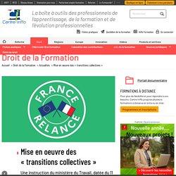 "Mise en oeuvre des ""transitions collectives"""
