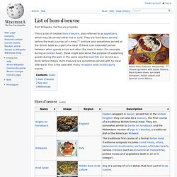List of hors d'oeuvre