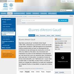 Œuvres d'Antoni Gaudí