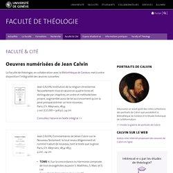 Oeuvres numérisées - Faculté de théologie - UNIGE