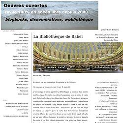 La Bibliothèque de Babel, par Jorge Luis Borges