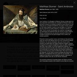 Matthias Stomer (vers 1600 - 1650), Saint Ambroise, entre 1631 et 1637, Huile sur toile, 110 x 130 cm, Musée des beaux arts de Rennes