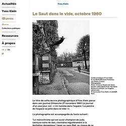 Œuvres - Le Saut dans le vide - Yves Klein