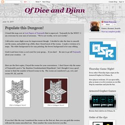 Of Dice and Djinn: Populate this Dungeon!