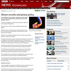 Ofcom unveils anti-piracy policy
