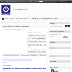 USP oferece curso grátis na área de humanas