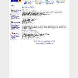 Oferta de trabajo de Embalsamador, Nuevo Leon