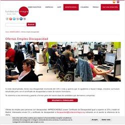 Ofertas empleo discapacidad