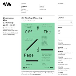 Off The Page Oslo 2015 - nyMusikk