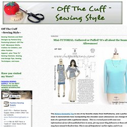 Off The Cuff ~Sewing Style~ | Share on LinkedIn