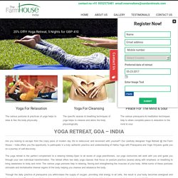 20% Off !!! Yoga Retreat, 5 Nights for GBP 410 India-Goa