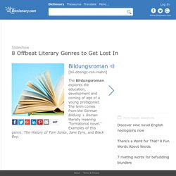 8 Offbeat Literary Genres to Get Lost In by Dictionary.com