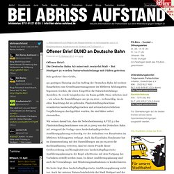 Offener Brief BUND an Deutsche Bahn