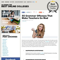 55 Grammar Offenses That Make Teachers Go Mad