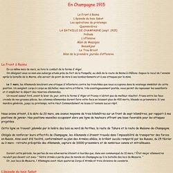 L'offensive de Champagne en septembre 1915