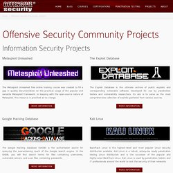 Offensive Security Community Projects