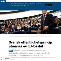 Svensk offentlighetsprincip utmanas av EU-beslut