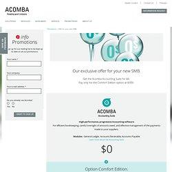Logiciel Acomba gratuit - Promotion aux nouvelles PME