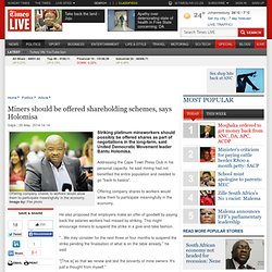 Miners should be offered shareholding schemes, says Holomisa