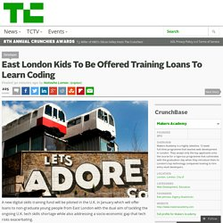 East London Kids To Be Offered Training Loans To Learn Coding