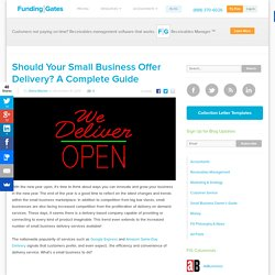 Should You Be Offering Small Business Delivery?