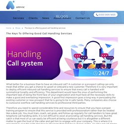 The keys to offering good call handling services