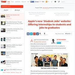 Apple's new 'Student Jobs' website: Offering internships to students and jobs to graduates - TNW Apple