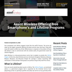 Assist Offering Free Smartphone and Lifeline Programs