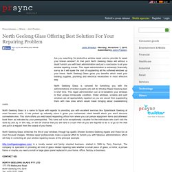 North Geelong Glass Offering Best Solution For Your Repairing Problem