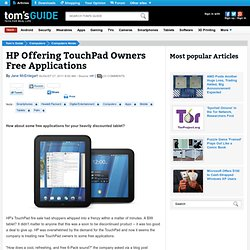 HP Offering TouchPad Owners Free Applications