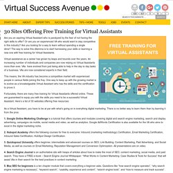 30 Sites Offering Free Training for Virtual Assistants