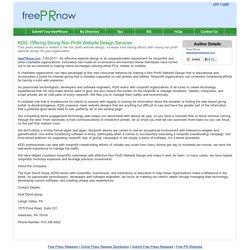 KDG: Offering Strong Non Profit Website Design Services