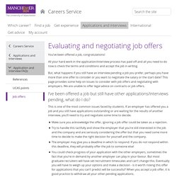 Job offers (The University of Manchester)