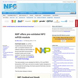 NXP offers pre-validated NFC mPOS module