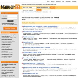 office 2010, descargar manuales pdf en la red