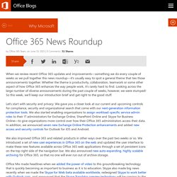 Office 365 News Roundup