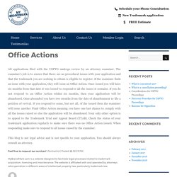 Office Actions – My Brand Mark Blog