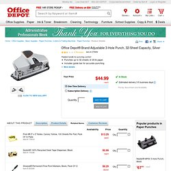 Adjustable 3 Hole Punch 30 Sheet Capacity (Gunmetal Gray)