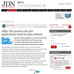 Office 365 prend la tête des applications cloud les plus utilisées - JDN