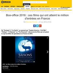 Box-office 2016 : ces films qui ont atteint le million d'entrées en France