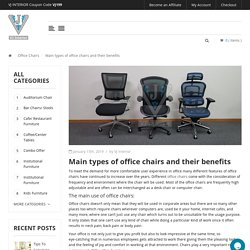 Main types of office chairs and their benefits - VJ Interior